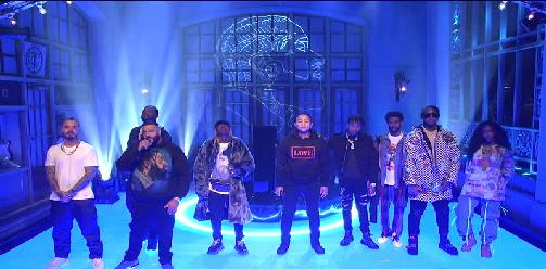 DJ Khaled Ft. SZA, Meek Mill & John Legend - Just Us & Weather The Storm Higher (Live On SNL)